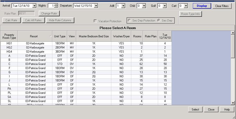 Property Management Reservations Software Resort Data