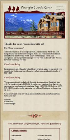 Hospitality Email Marketing Resort Data Processing